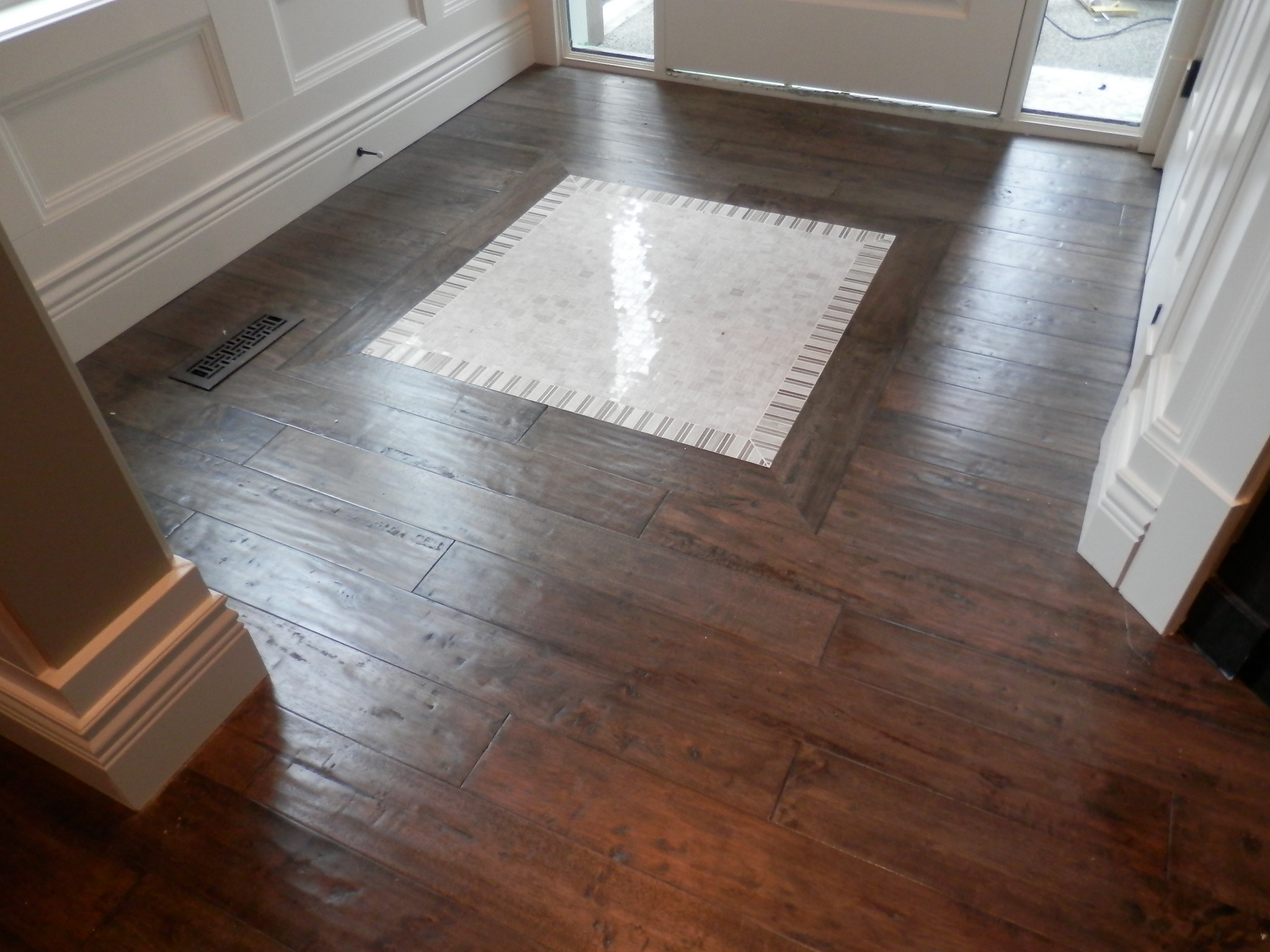 Custom Flooring inlay vancouver installation